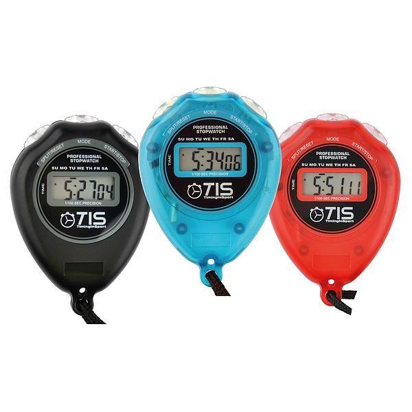 TIS Pro 018 Sports Timer Stopwatch Red